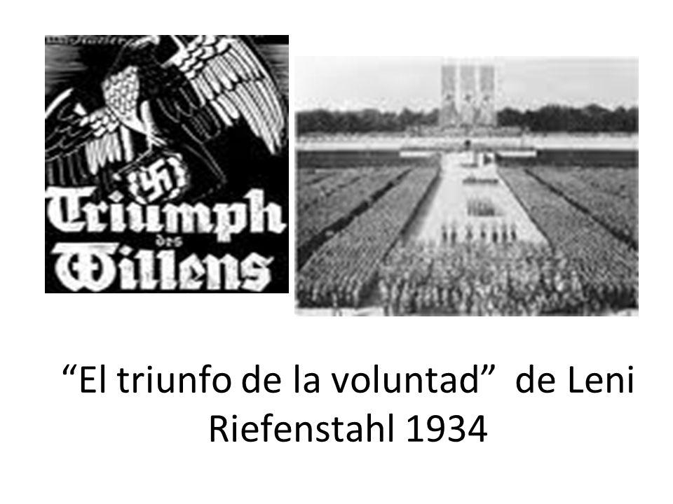 El triunfo de la voluntad de Leni Riefenstahl 1934