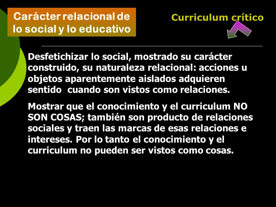 Carácter relacional de lo social y lo educativo