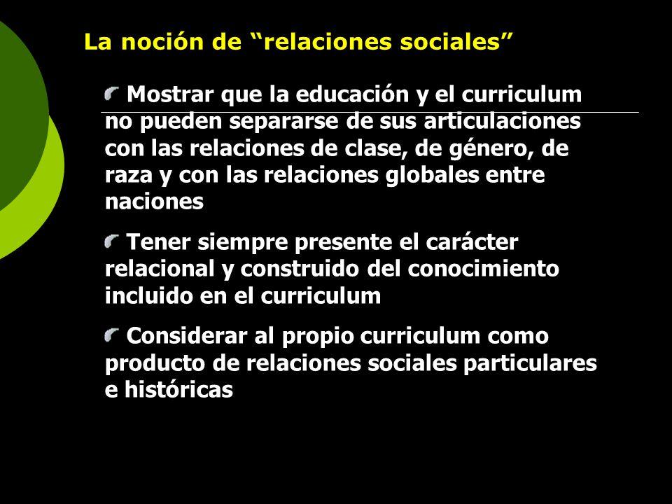 La noción de relaciones sociales