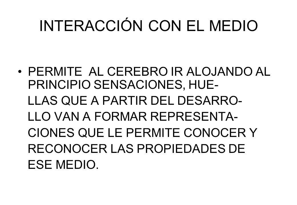 INTERACCIÓN CON EL MEDIO