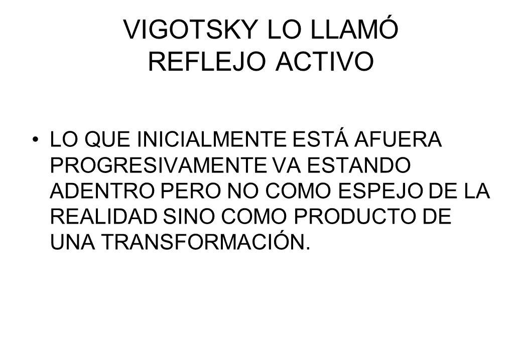 VIGOTSKY LO LLAMÓ REFLEJO ACTIVO