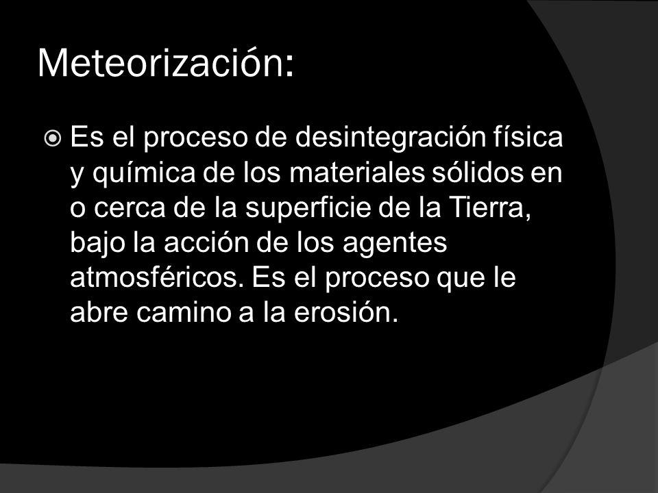 Meteorización:
