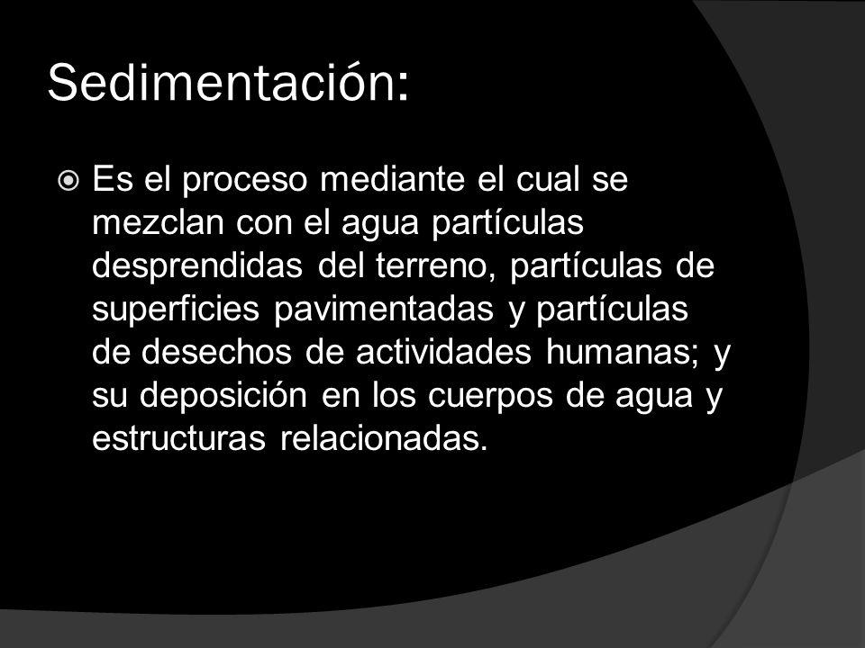 Sedimentación: