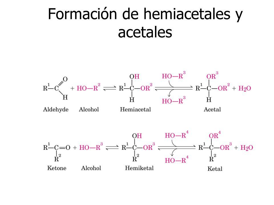 Formación de hemiacetales y acetales