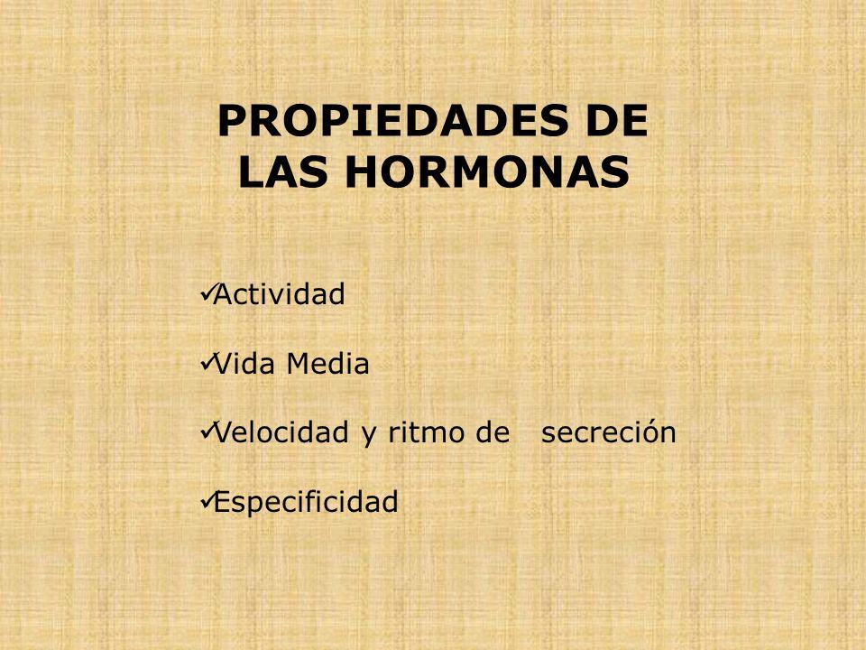 PROPIEDADES DE LAS HORMONAS