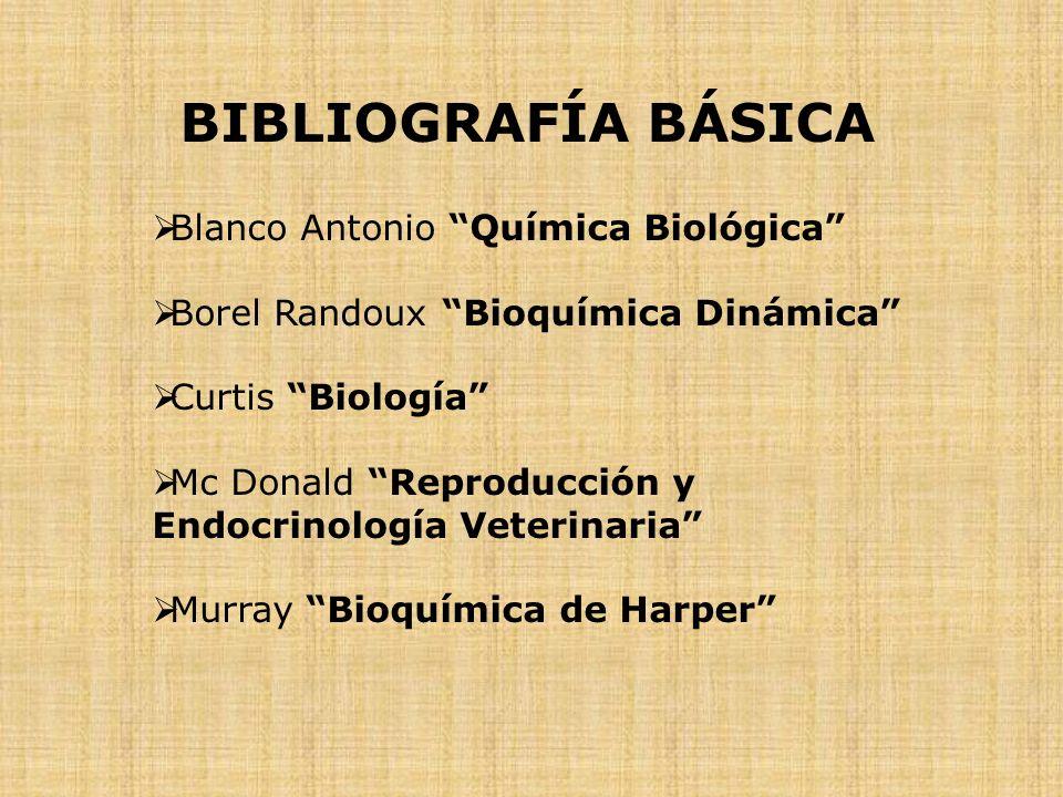 BIBLIOGRAFÍA BÁSICA Blanco Antonio Química Biológica