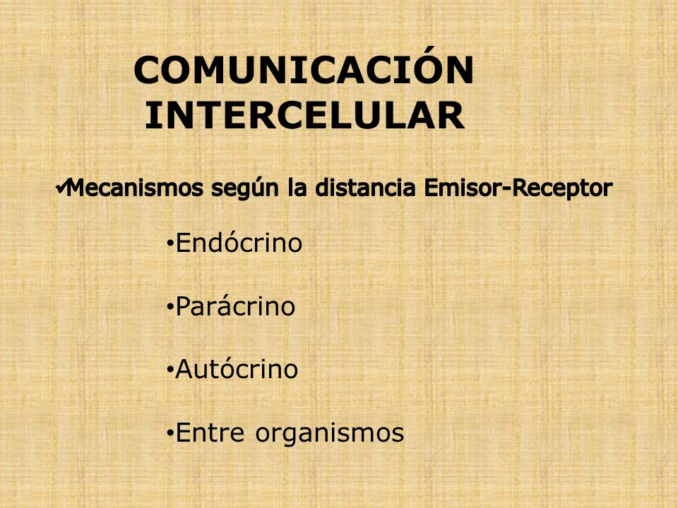 COMUNICACIÓN INTERCELULAR