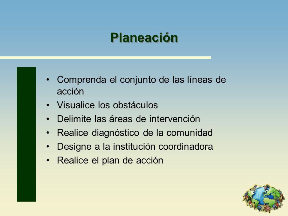 Planeación Comprenda el conjunto de las líneas de acción