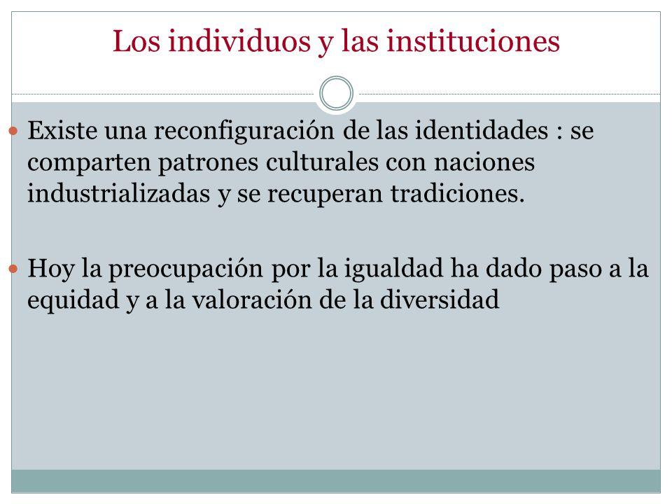 Los individuos y las instituciones