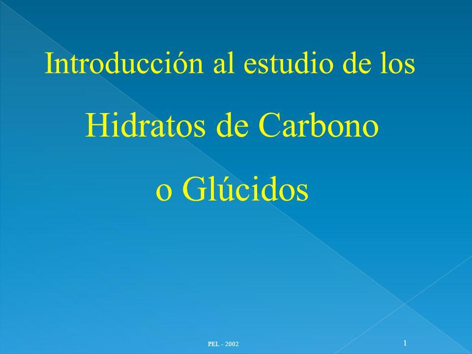 Hidratos de Carbono o Glúcidos Introducción al estudio de los