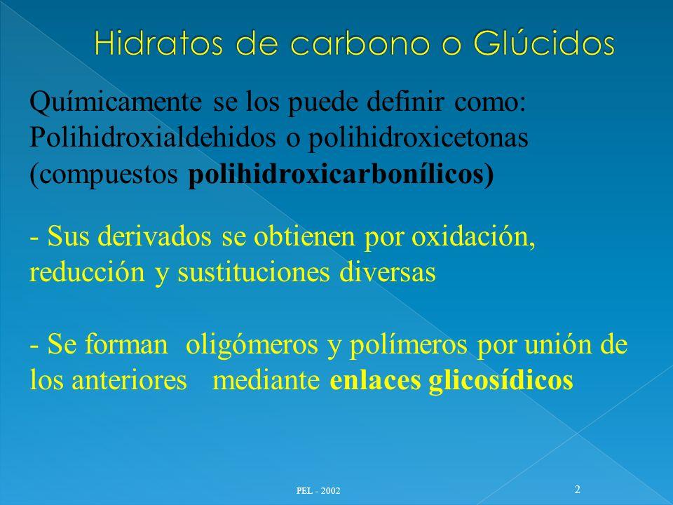 Hidratos de carbono o Glúcidos