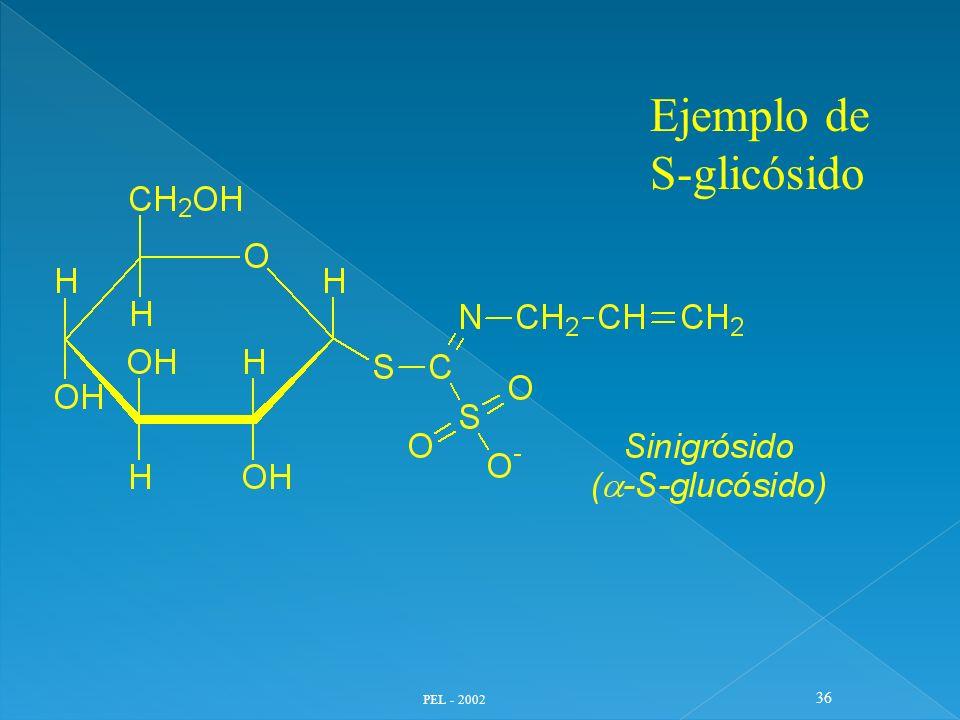Ejemplo de S-glicósido PEL - 2002