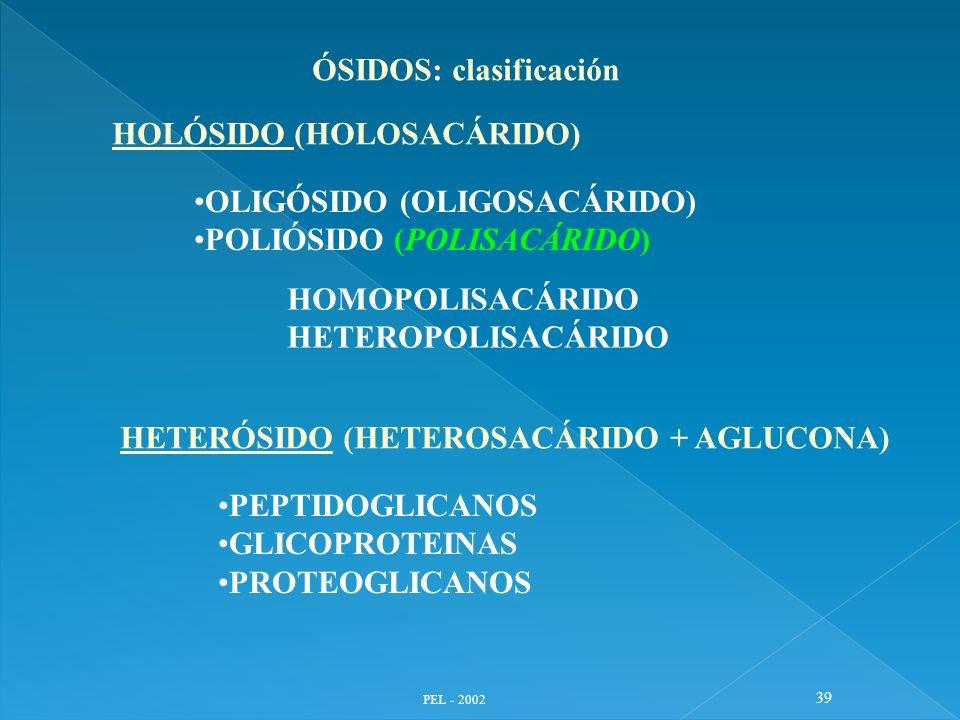 ÓSIDOS: clasificación