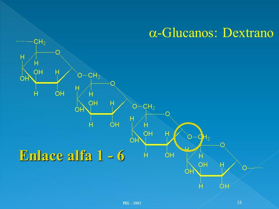 a-Glucanos: Dextrano Enlace alfa 1 - 6 PEL - 2002