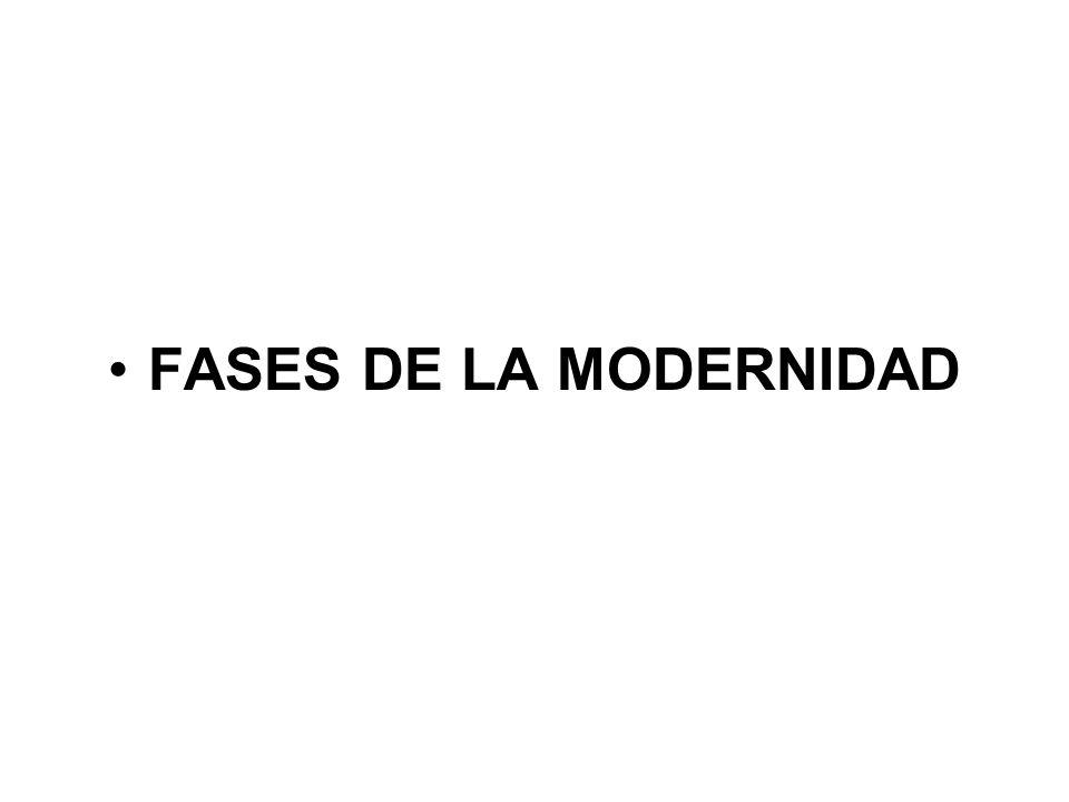 FASES DE LA MODERNIDAD