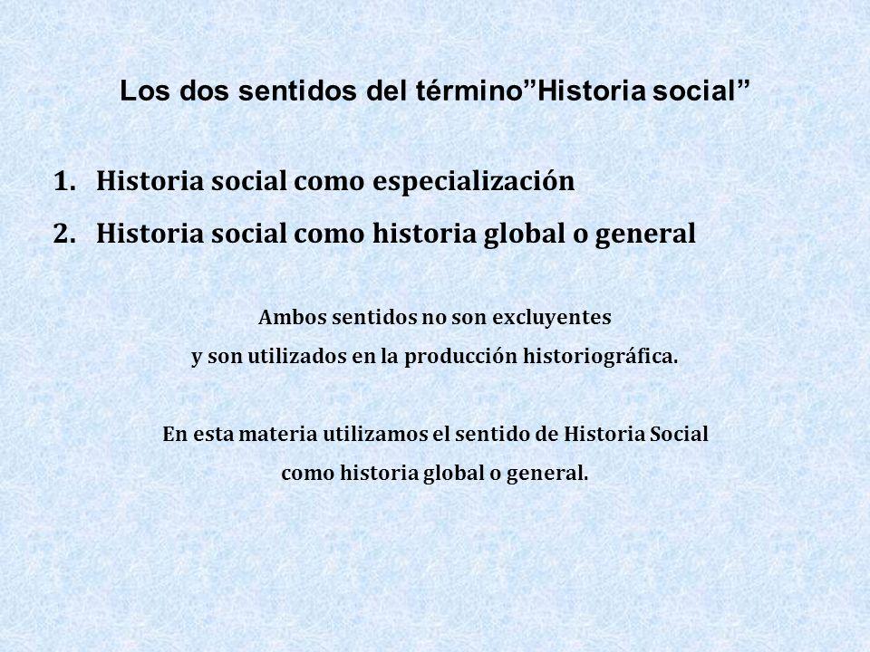 Los dos sentidos del término Historia social