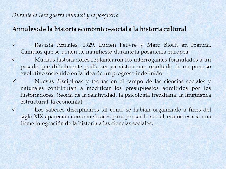 Annales: de la historia económico-social a la historia cultural