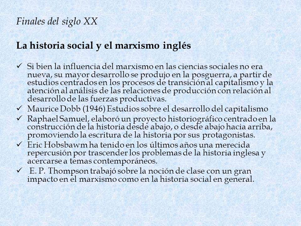 La historia social y el marxismo inglés