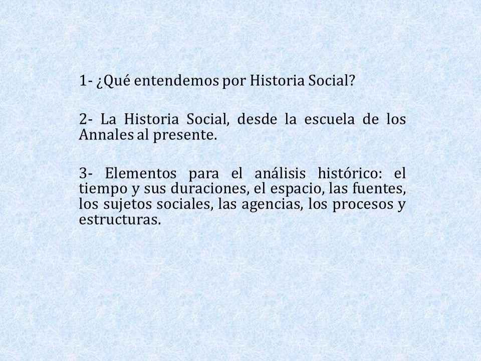 1- ¿Qué entendemos por Historia Social