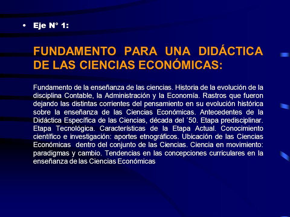FUNDAMENTO PARA UNA DIDÁCTICA DE LAS CIENCIAS ECONÓMICAS: