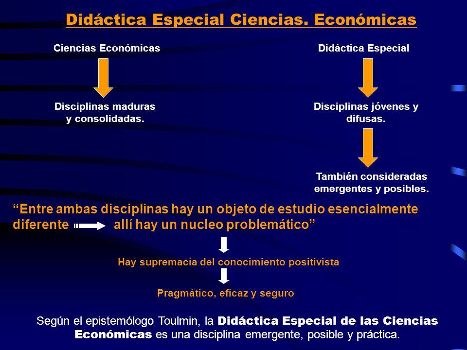 Didáctica Especial Ciencias. Económicas
