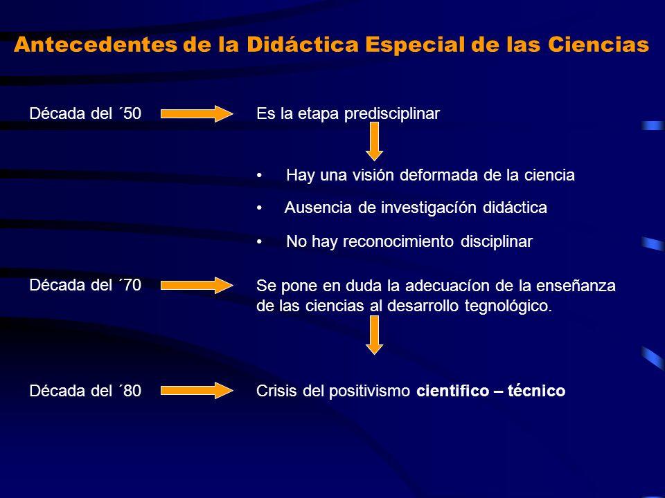 Antecedentes de la Didáctica Especial de las Ciencias