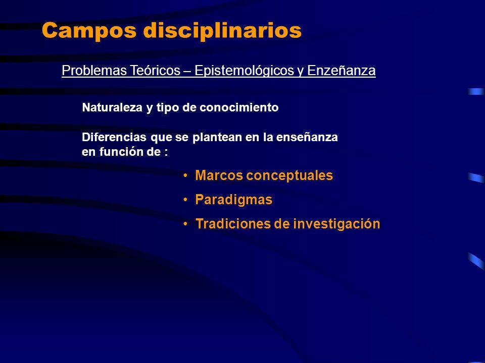 Campos disciplinarios