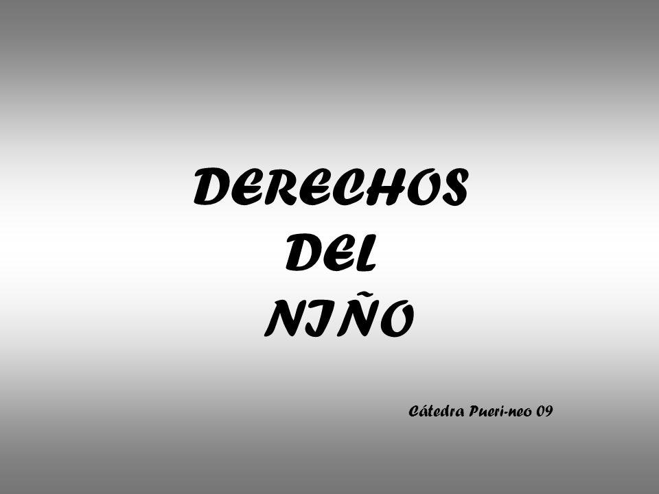 DERECHOS DEL NIÑO Cátedra Pueri-neo 09