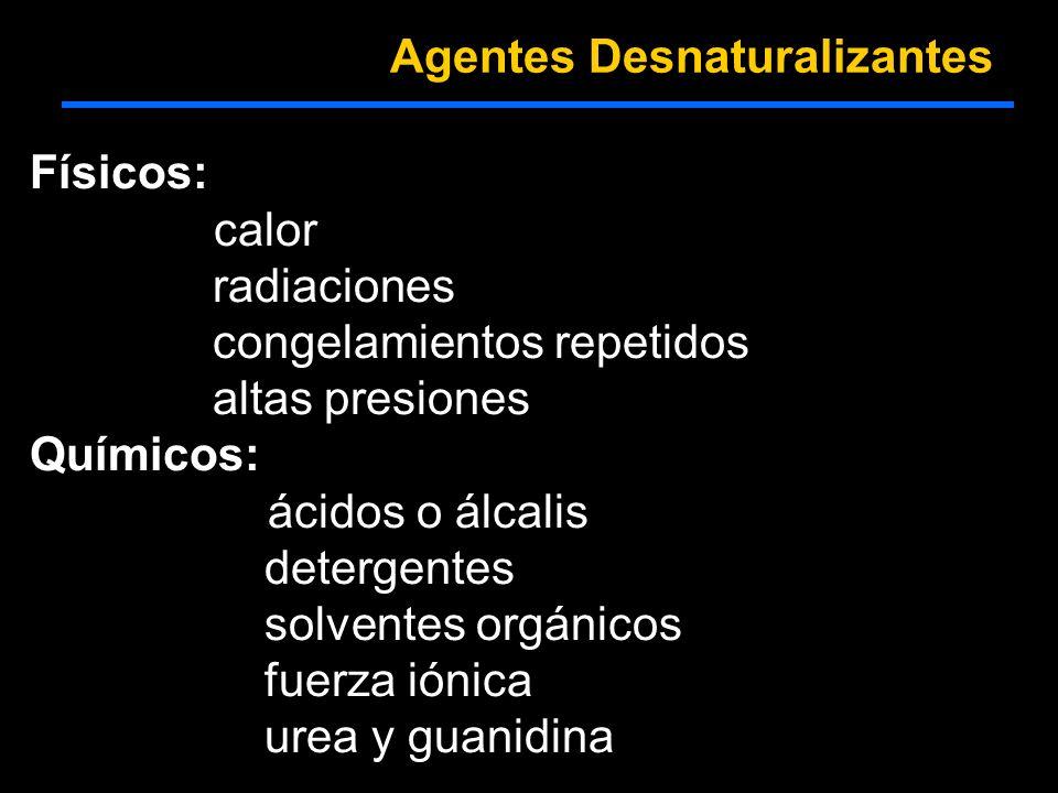 Agentes Desnaturalizantes