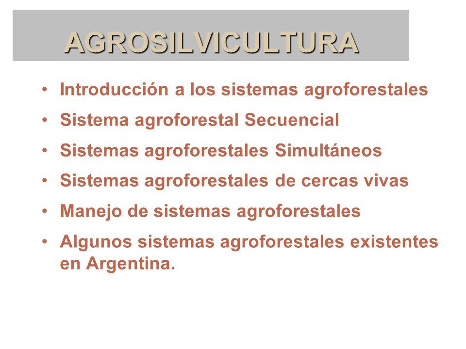 AGROSILVICULTURA Introducción a los sistemas agroforestales