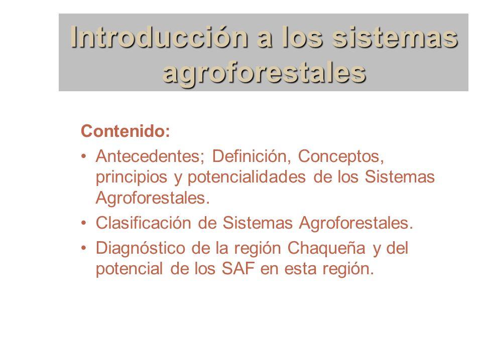 Introducción a los sistemas agroforestales