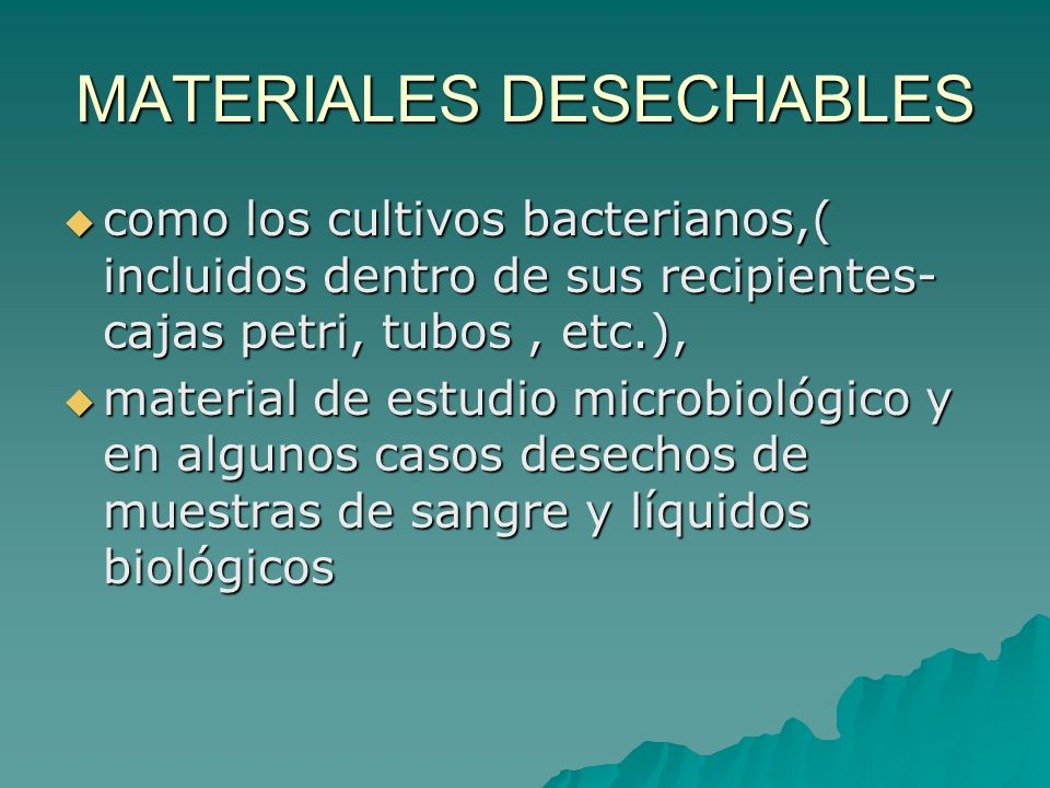 MATERIALES DESECHABLES