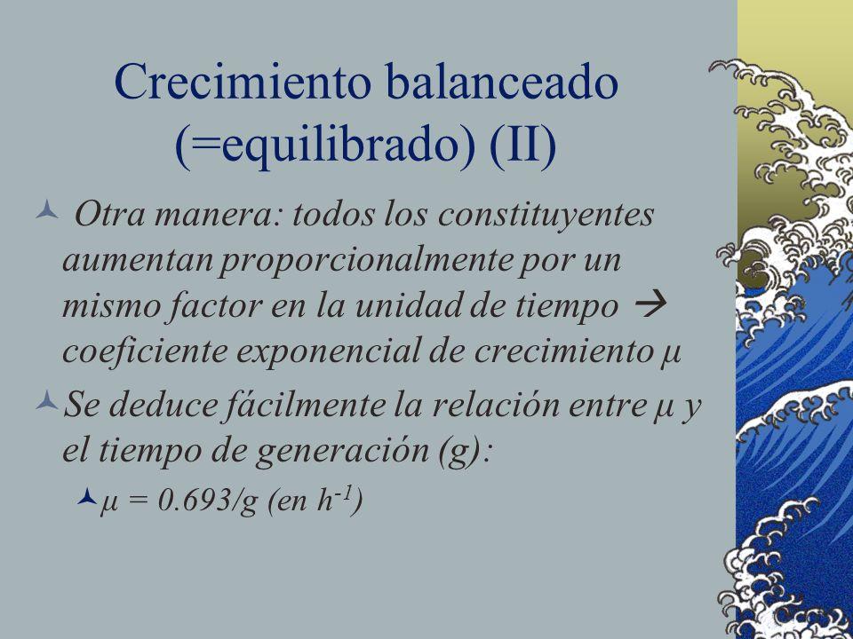 Crecimiento balanceado (=equilibrado) (II)