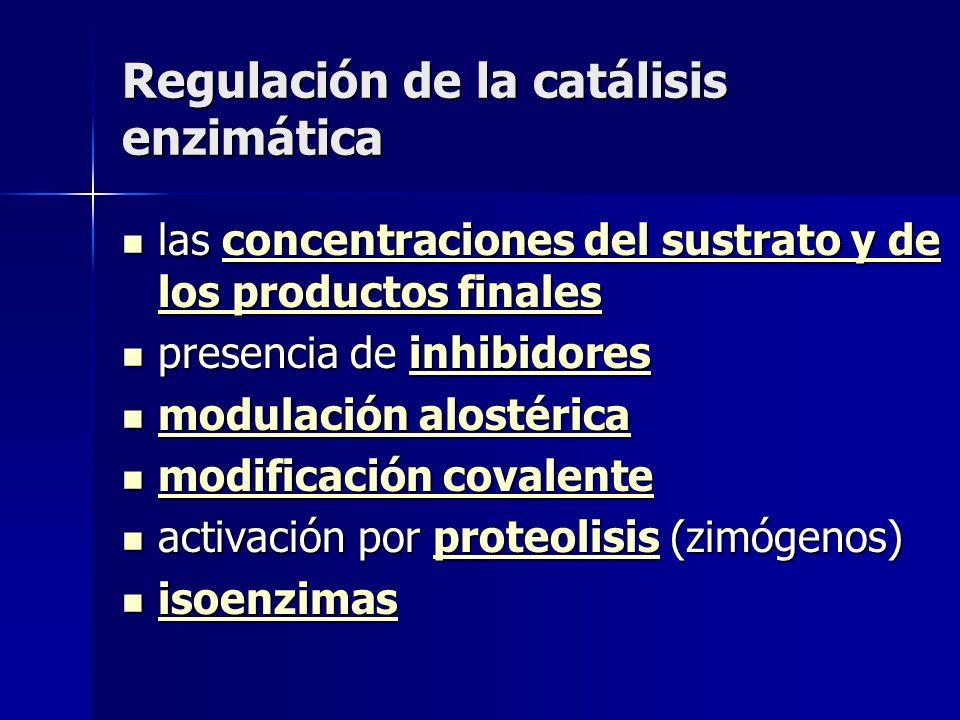 Regulación de la catálisis enzimática