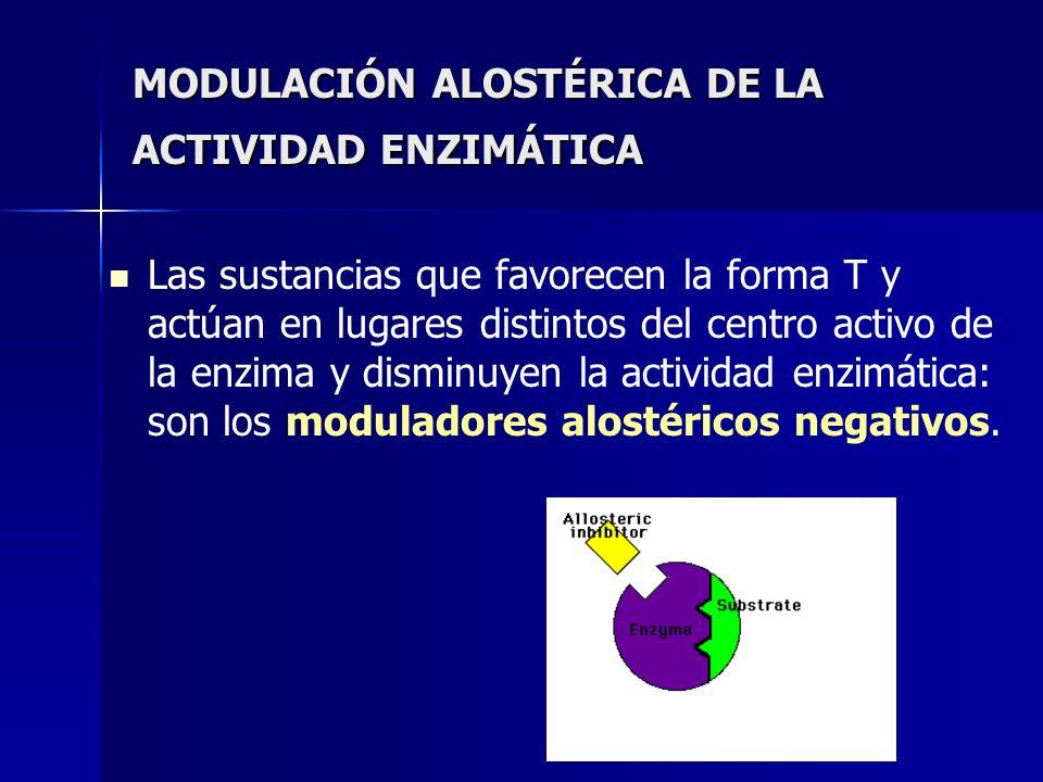 MODULACIÓN ALOSTÉRICA DE LA ACTIVIDAD ENZIMÁTICA