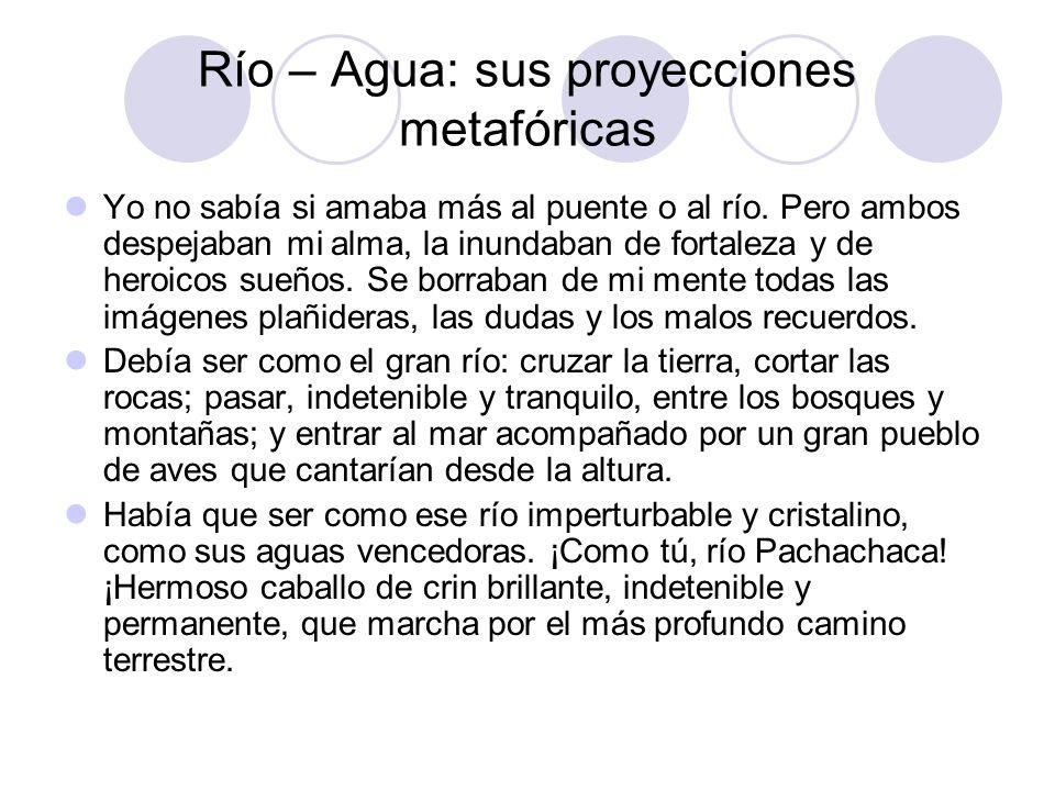 Río – Agua: sus proyecciones metafóricas