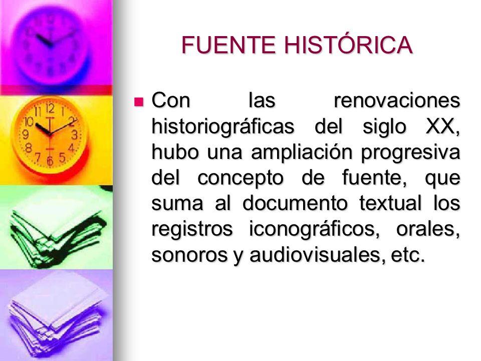 FUENTE HISTÓRICA