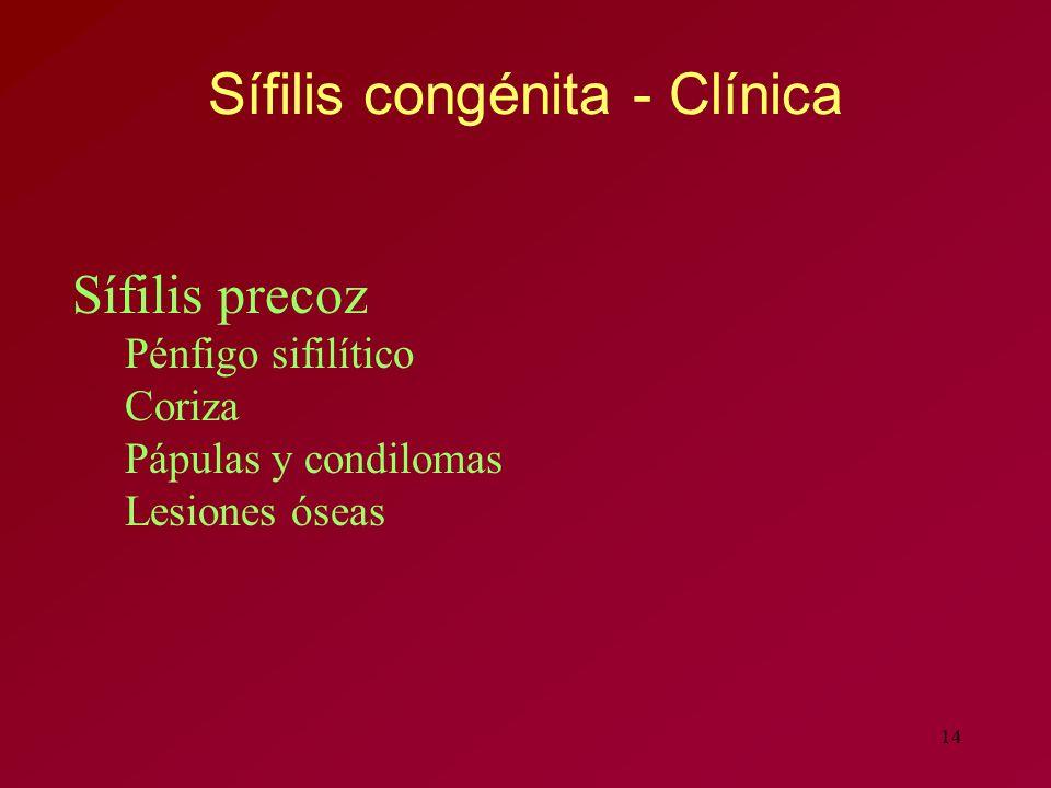 Sífilis congénita - Clínica