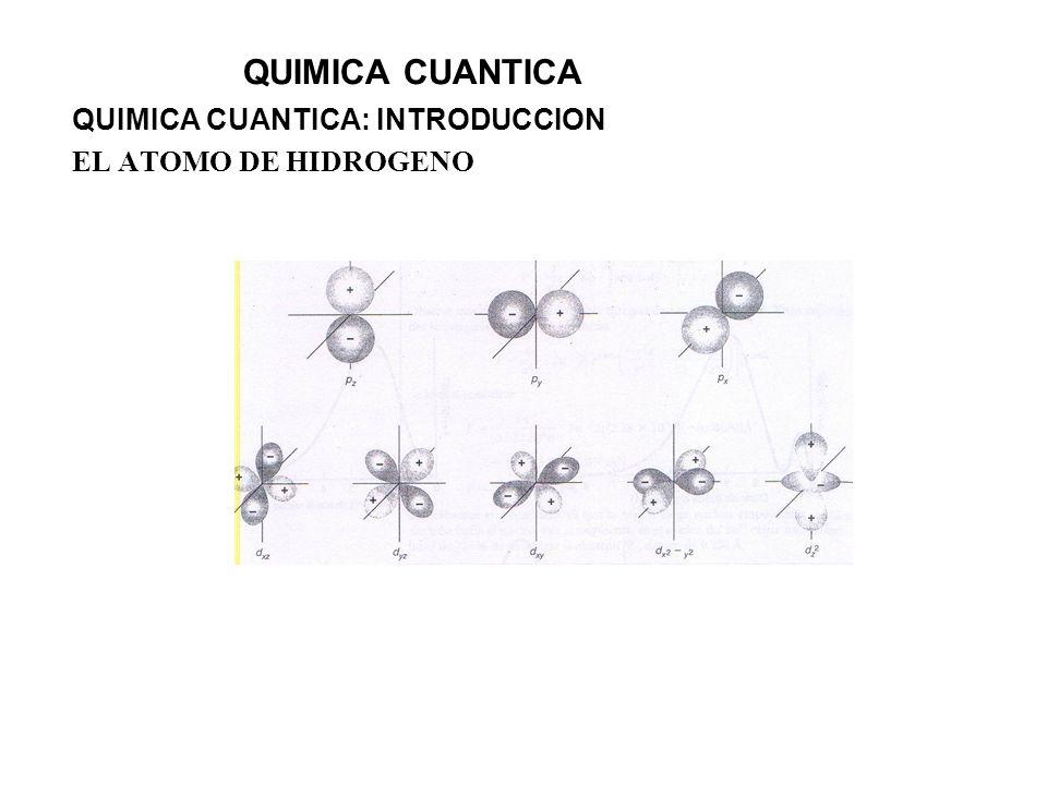 QUIMICA CUANTICA: INTRODUCCION EL ATOMO DE HIDROGENO