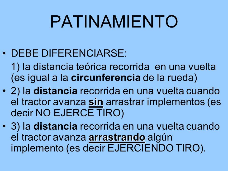 PATINAMIENTO DEBE DIFERENCIARSE: