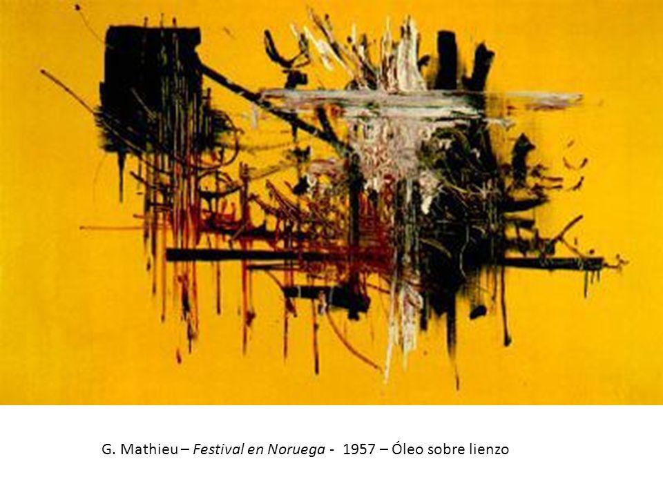 G. Mathieu – Festival en Noruega - 1957 – Óleo sobre lienzo