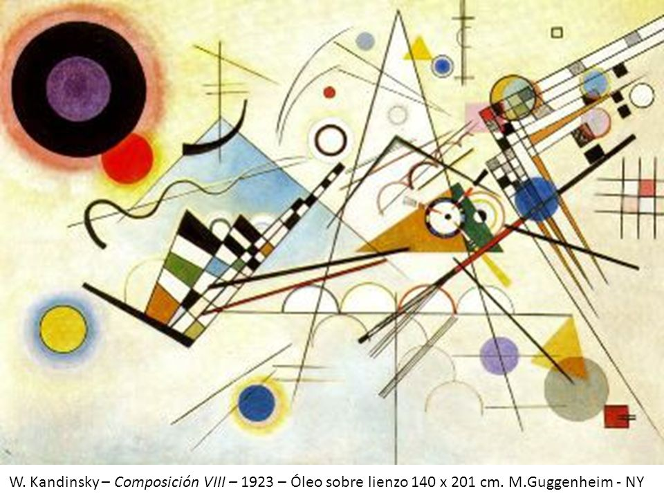 W. Kandinsky – Composición VIII – 1923 – Óleo sobre lienzo 140 x 201 cm. M.Guggenheim - NY