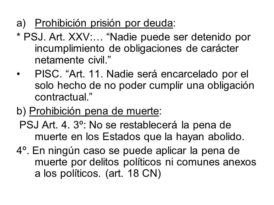 Prohibición prisión por deuda: