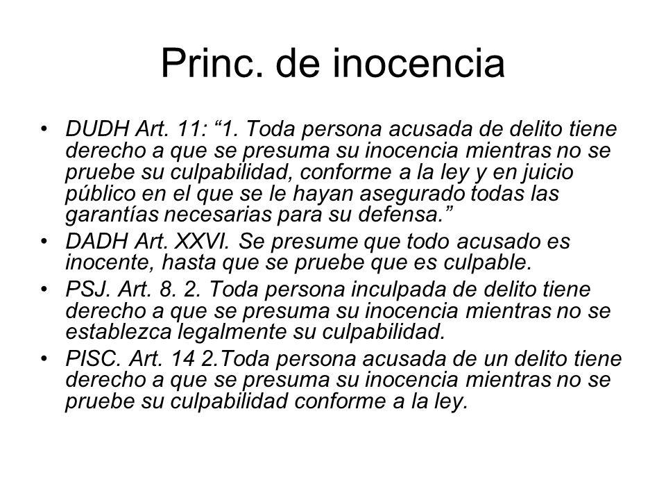 Princ. de inocencia
