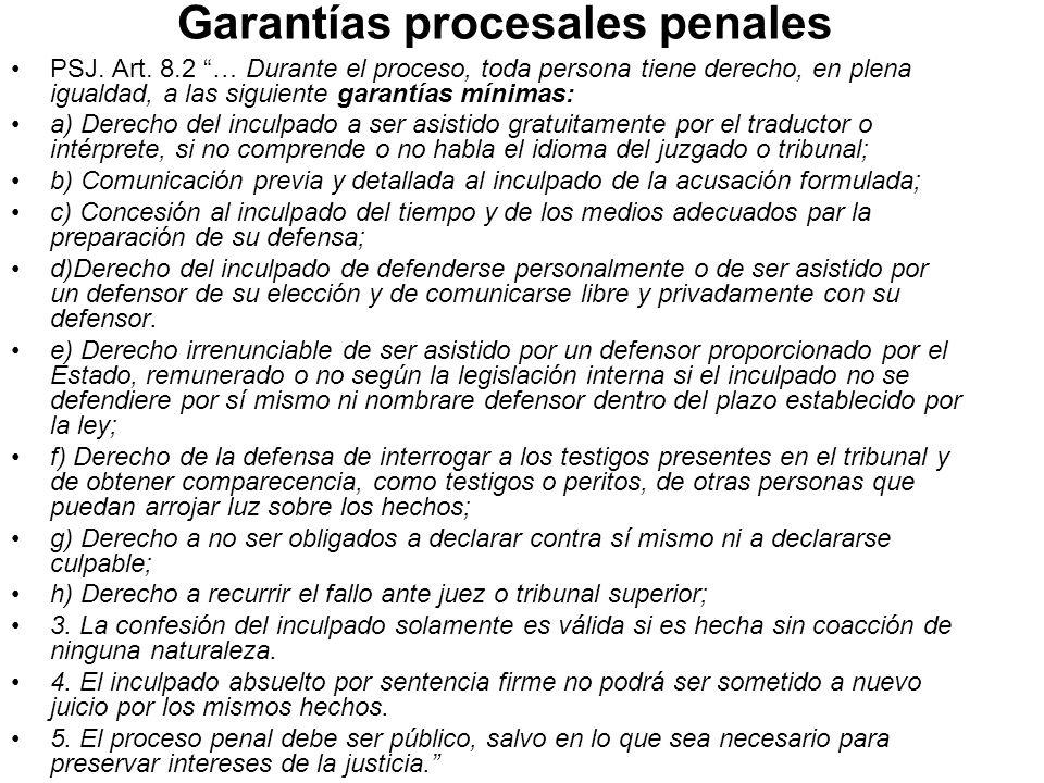 Garantías procesales penales