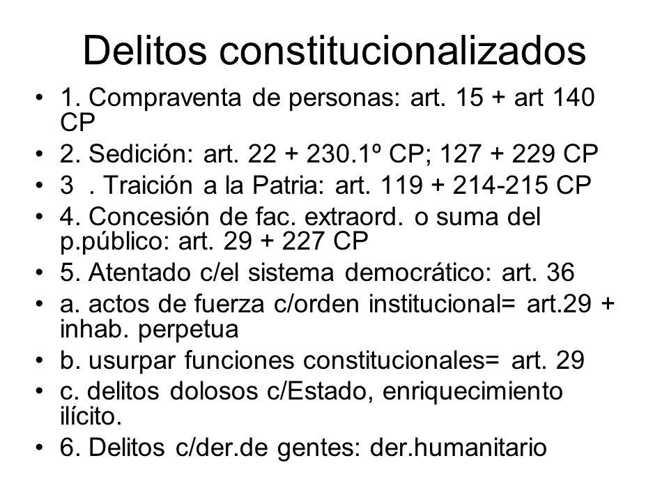 Delitos constitucionalizados