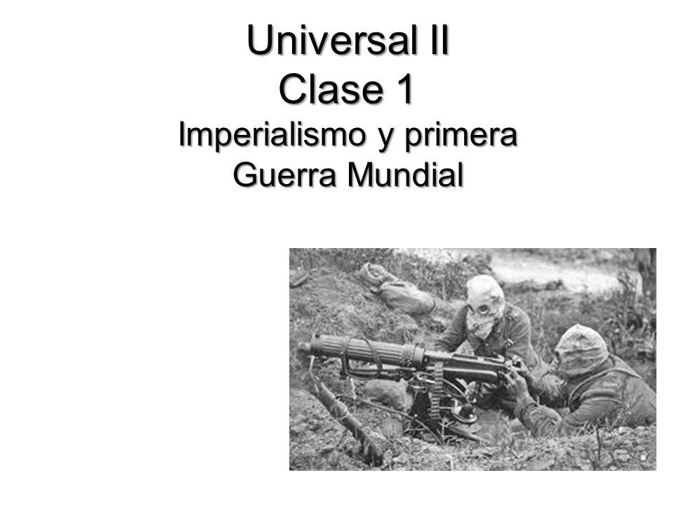 Imperialismo y primera Guerra Mundial