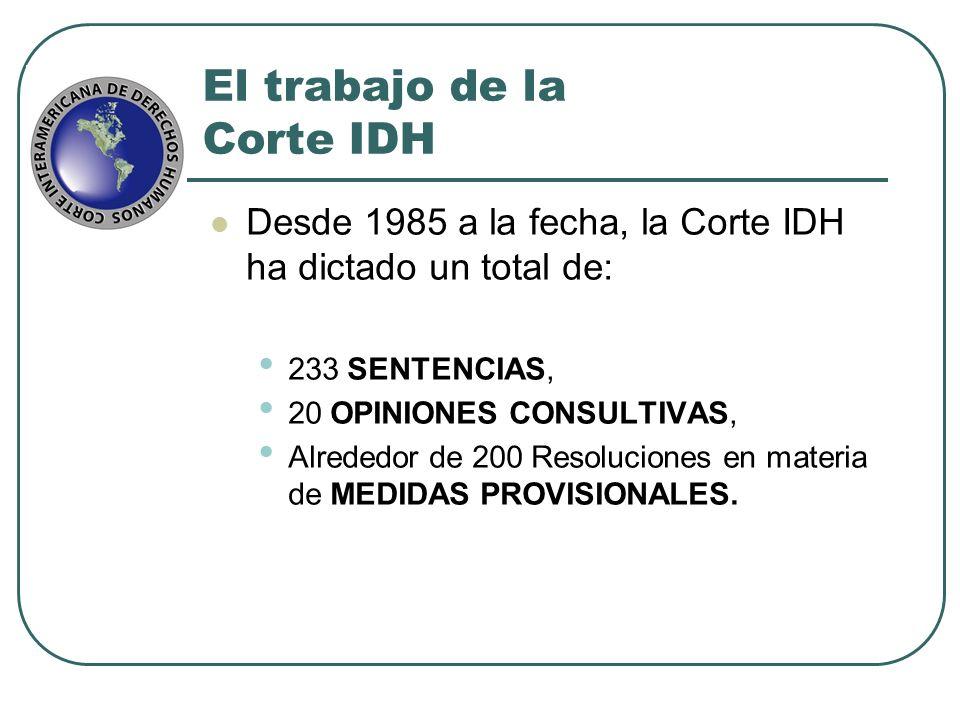 El trabajo de la Corte IDH