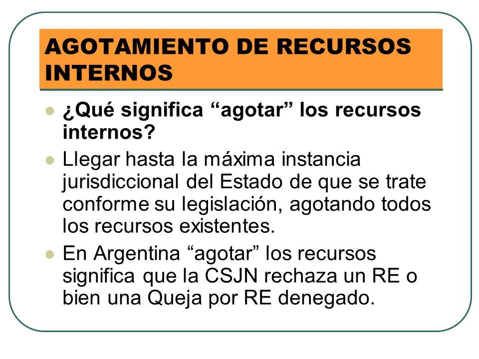 AGOTAMIENTO DE RECURSOS INTERNOS