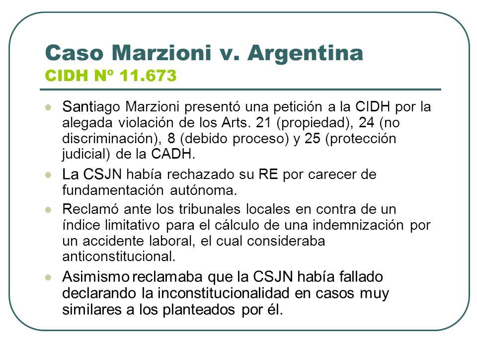 Caso Marzioni v. Argentina CIDH Nº 11.673